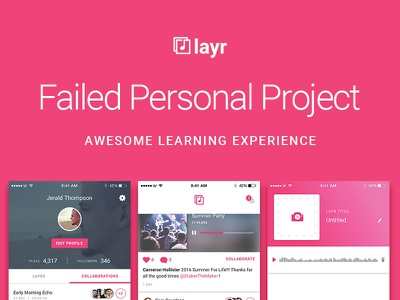 A Failed Personal Project process music case study user interface user experience ux ui uiux app mobile