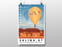 Illustrated Hot Air Balloon Poster