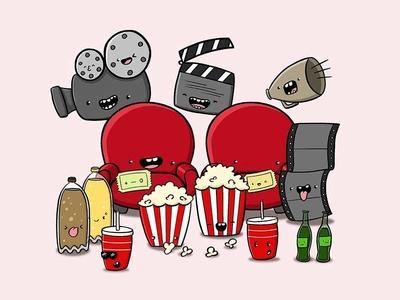 Cinema Doodle movies cinema doodle characters doodle art characterdesign digital art character design character doodle kawaii