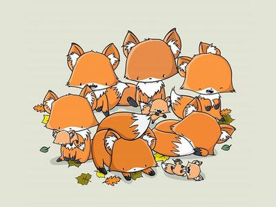 Cute Foxes kawaii art doodles character doodle characters characterdesign digital art character design kawaii doodleart doodle cute fox fox foxes