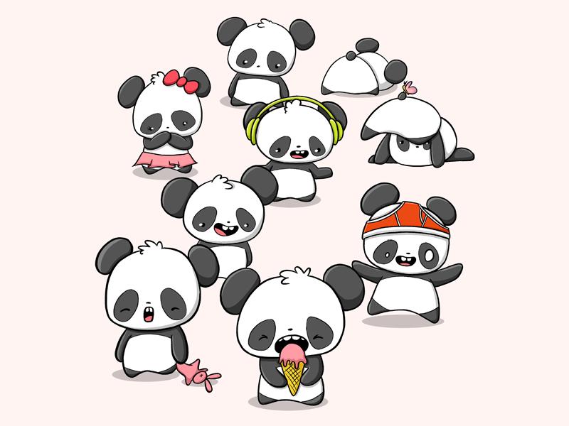 Pandas pandaearth panda doodle cute pandas cute panda panda pandas illustration kawaii art doodle characters doodle art cute characterdesign character design digital art character doodle kawaii