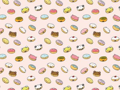 Donut Pattern procreate character kawaii art doodle characters characterdesign digital art character design kawaii kawaii donuts kawaii donut donut doodle cute donuts cute donut donut print donuts donut