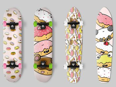 Donuts Skateboard Design skate deck skateboarder pink design donut kawaii donuts skateboard graphics skateboard design skateboard