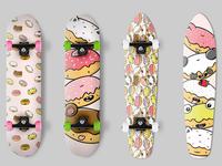 Donuts Skateboard Design