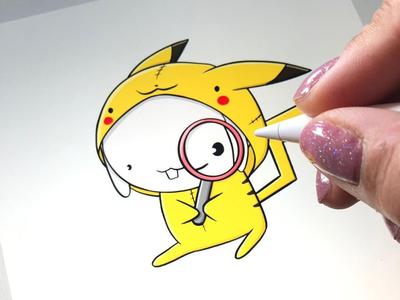 Kawaii Pikachu Bunny characterdesign digital art character design pokemongo pokemon go kawaii art kawaii fanart pokemon pikachu bunnies bunny