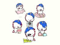 Kawaii Unicorn Characters