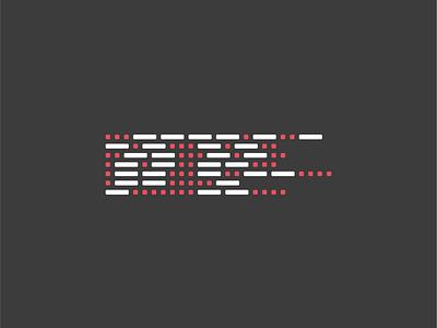 Morse code brand pattern. code.