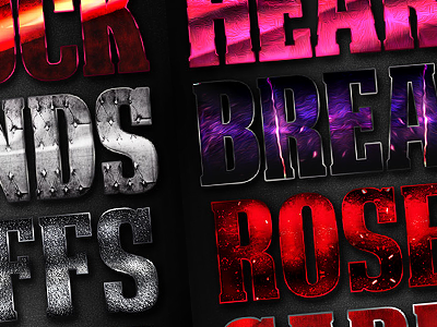 Love and Passion Styles photoshop layer styles high res roses passion mothers day vday love