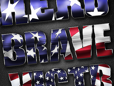 Patriotic Layer Styles memorial day freedom home brave fourth of july 4th labor day presidents day independence day photoshop layer styles