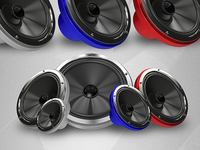 Colorful Speakers 3D Renders