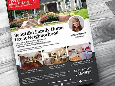 Better Real Estate Flyer Template V6 sell houses rei realty realtor real estate flyer template property professional print modern minimal home clean flat design