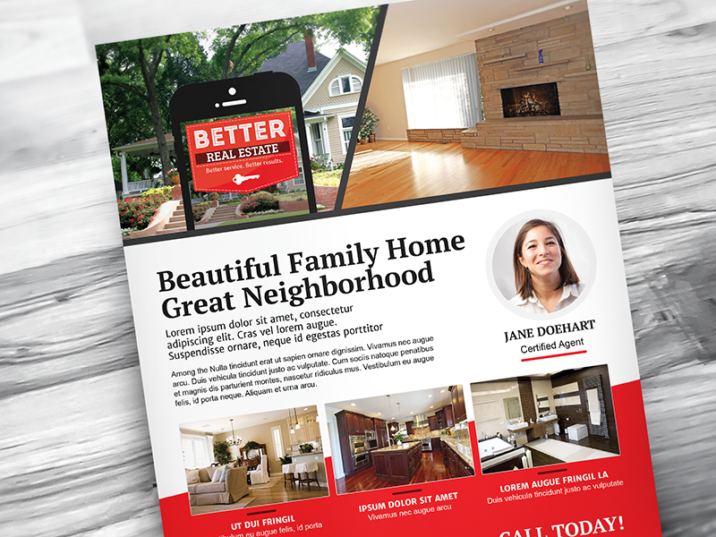 better real estate flyer template v7 by deiby chico dribbble