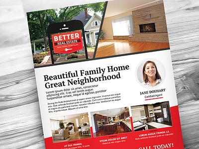 Better Real Estate Flyer Template V7 sell houses rei realty realtor real estate flyer template property professional print modern minimal home clean flat design