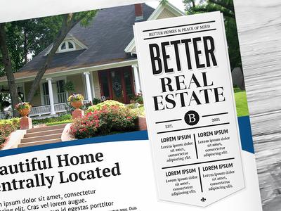 Better Real Estate Flyer Template V8 sell houses rei realty realtor real estate flyer template property professional print modern minimal home clean flat design