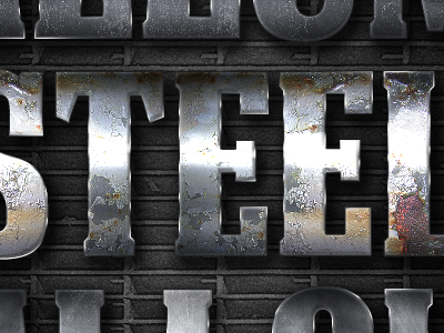 Extreme Metal Layer Styles Volume 1 steel metal cinema movie cinematic high res textured pattern realistic print web photoshop layer styles mobile gaming urban decay grunge gritty app developer