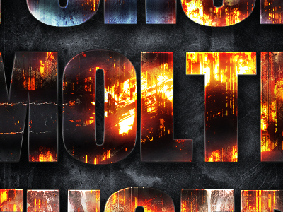 Fire Forged Layer Styles Volume 1 ashes flame shield fused meld steel burn molten lava flow burnt burning inferno realistic metallic metal print web screen photoshop layer styles destroyed decayed eroded grunge flames fire napalm fire forged iron mobile gaming