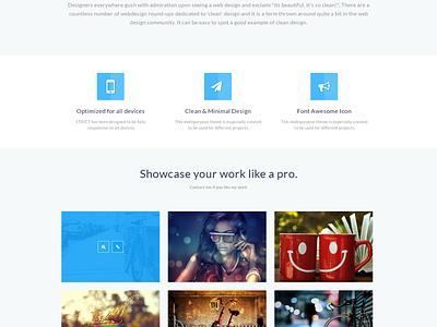 Strict Portfolio Template [Freebie] strict freebie portfolio template itsekhtiar flat web page awesome clean ui