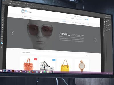 Virgin WIP itsekhtiar banner ui flat ux theme ecommerce gray layout wip clean