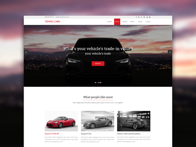 Website design for a car dealer. Homepage. design flat interface minimal car dealer ux ui vehicle itsekhtiar coderpixel concept