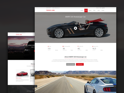 Website design for a car dealer. Car details page. itsekhtiar ui ux flat car dealer interface minimal coderpixel concept vehicle