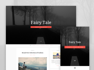 Fairytale - Blogging Theme for Ghost template theme itsekhtiar mobile navigation typography disqus responsive minimal blogging ghost blog