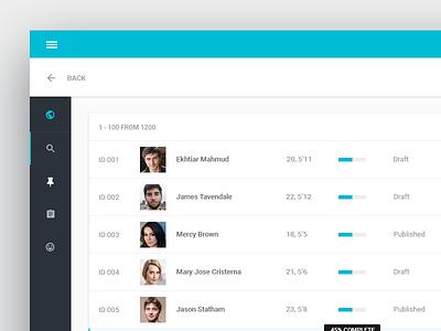 Matchmaker web app design table application matchmaker ux ui awesome google web app app material material design itsekhtiar
