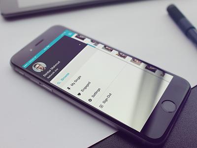 Navigation Drawer Interface slide retina dating iphone ios matchmaker app itsekhtiar ui drawer navigation