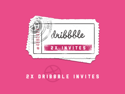 2x Dribbble Invites itsekhtiar ticket invitation illustration icons iconography icon giveaway dribbble design card 2