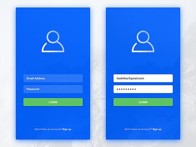 Simple App Login user ui simple sign mobile minimal login itsekhtiar ios input app android