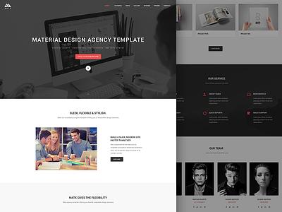 Matx Home page 3 itsekhtiar responsive portfolio parallax onepage minimal material design masonry landing coderpixel blog agency