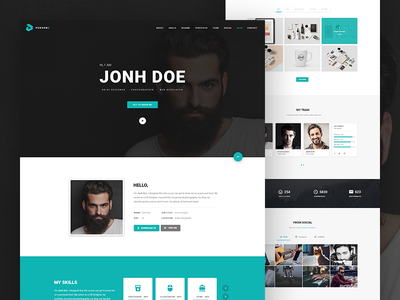 PersonX - Material Design Personal Theme themeforest template theme vcard resume portfolio personal one page material design cv itsekhtiar