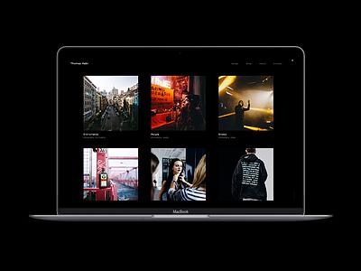 My Photography Portfolio website simple black desktop macbook design web portfolio photography
