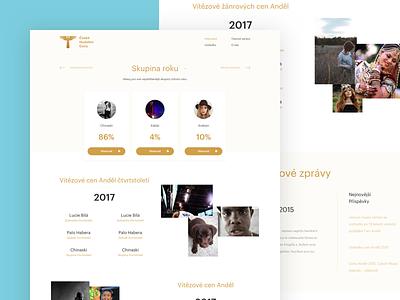 Czech Music Awards ui flat czech awards clean simple design concept web