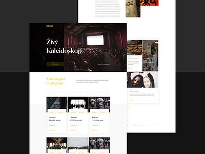 ImageTheatre Website Concept czech black theatre clean simple 2d design website concept