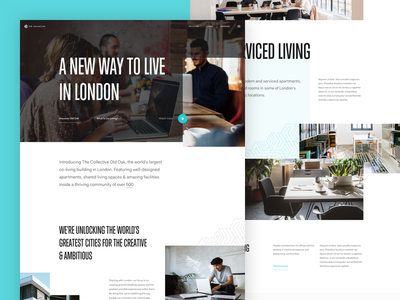 TheCollective – Homepage living coworking homepage clean website ux ui design