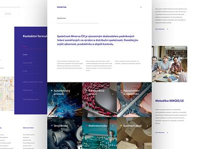 Minerva – Services, Company and Contact company software czech web design website ux ui design minerva