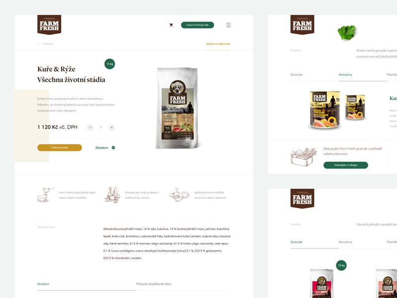 FarmFresh – Eshop product sketch design ux ui website czech food dog farm farmfresh eshop