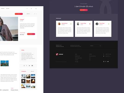 Twiner.cz – Profile company purple service boy platform people 2d web simple minimalistic clean czech website ux ui design user profile