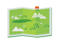 Explore Nature Map Icon