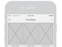 Pull List Home Wireframe