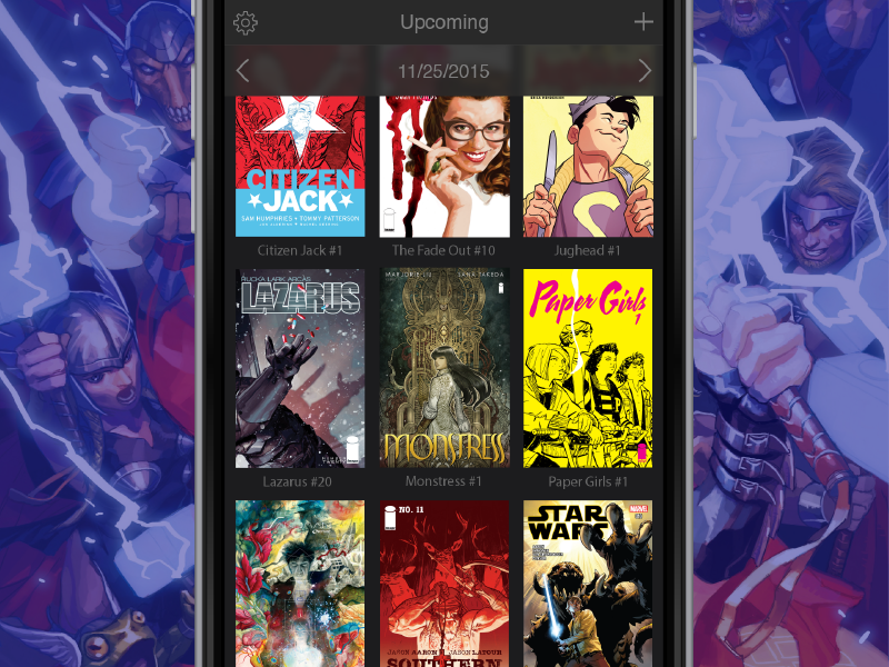 Pull List Upcoming ios iphone mockup tracking subscription list pull book comic