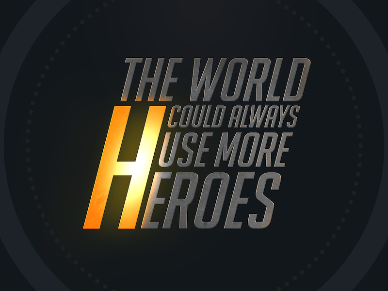 More Heroes text photoshop heroes tracer overwatch