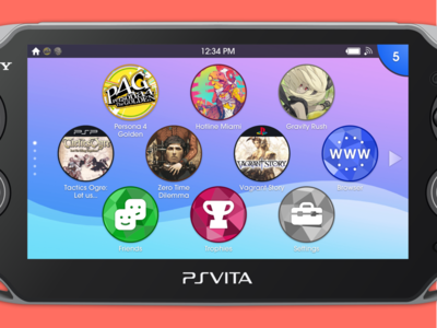 PS Vita Homescreen Redesign video games ui vita sony playstation