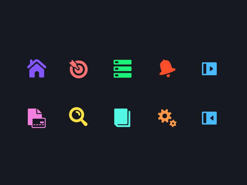Web App Nav/UI Icons ux design navigation ui icon