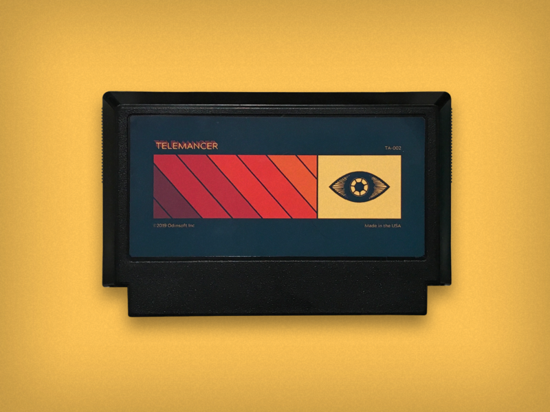 TELEMANCER meteor famicom eye famicase exhibition retro design game cartridge