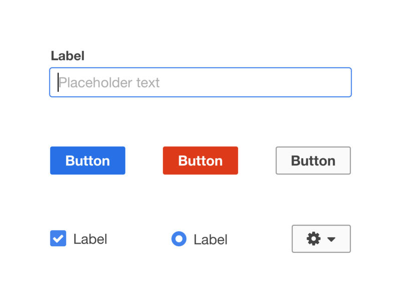 UI Elements controls input text buttons ui design