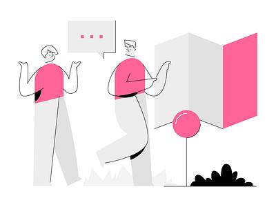 Ghost illustrations Free Download ui branding scene generator builder scene outline simple landing page website empty state figma sketch vector illustration