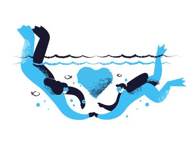 Deep love illustration