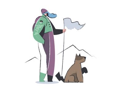Mixology illustrations ui design avatar animal dog adventure landing website exploration creative hand drawing people illustration vector