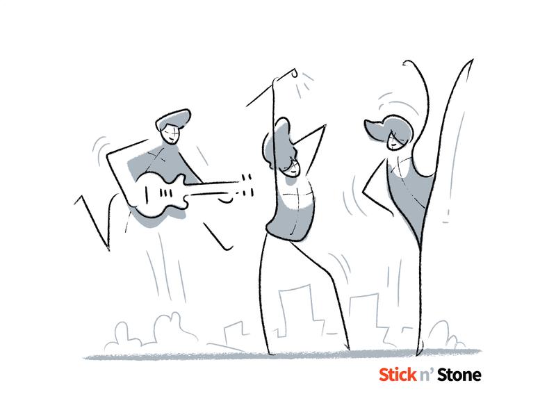 Stick n Stone 100 illustrations branding avatar line sketch illustration pack scene vector illustration for website character design character stickman illustration